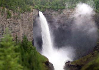 Helmcken Falls view from trail
