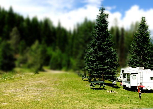 Helmcken Falls Lodge RV site